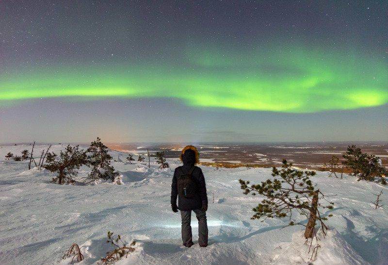 северное сияние, аврора, финляндия, лапландия photo preview