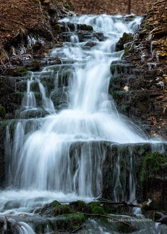 waterfall water landscape nature outdoors winter Waterfallphoto preview