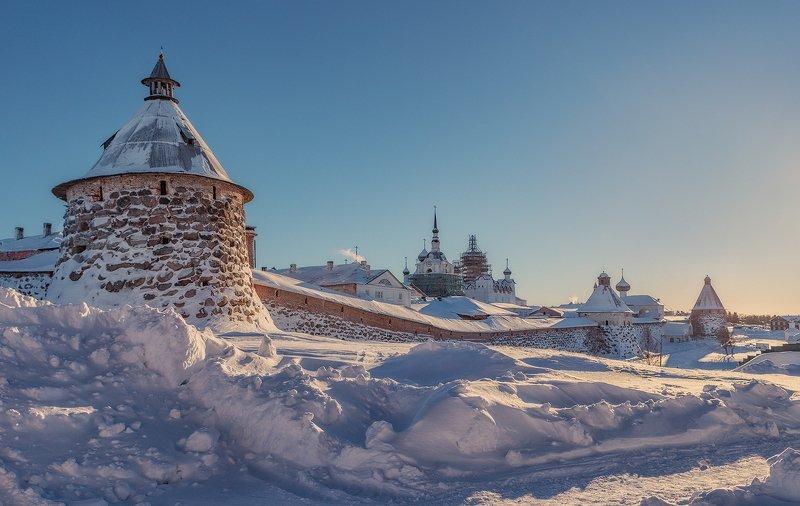 соловки, монастырь, снег, зима, Соловецкий монастырьphoto preview