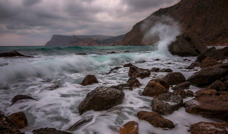 Крым. Зимний шторм.photo preview