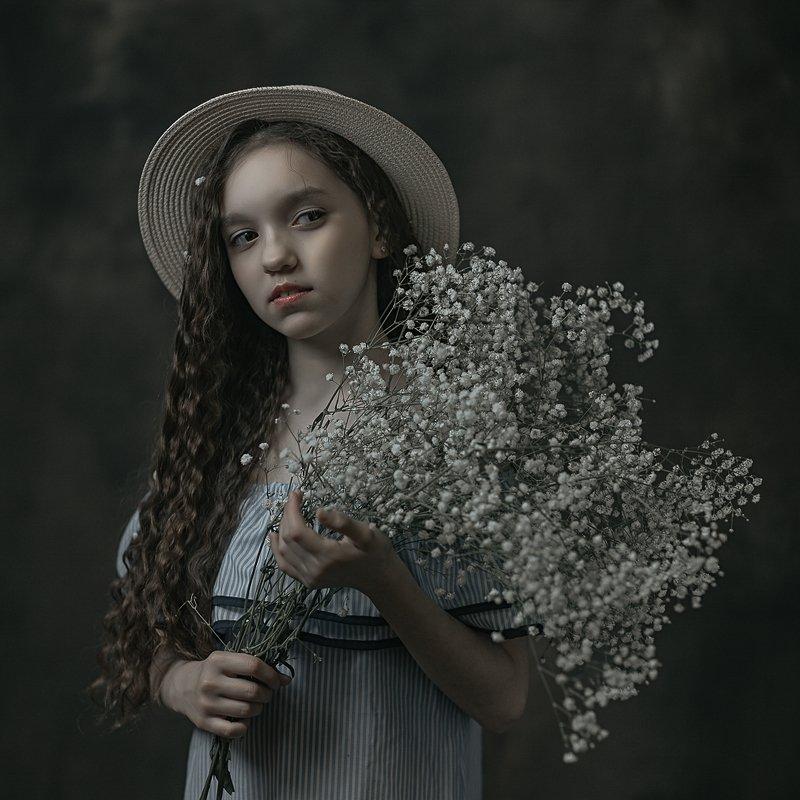 girl, flowers, шляпа, девушка, цветы, девочка, портрет Tanyaphoto preview