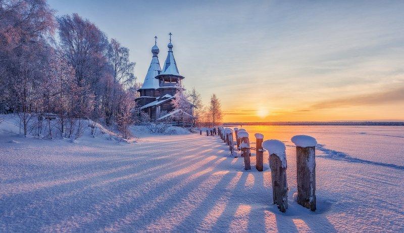 чёлмужи, церковь, зима, снег ...photo preview
