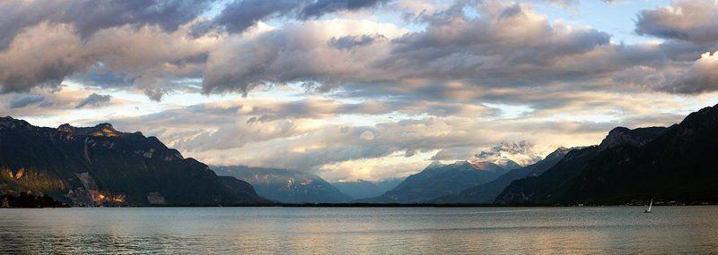 Сентябрьский вечер на Женевском озереphoto preview