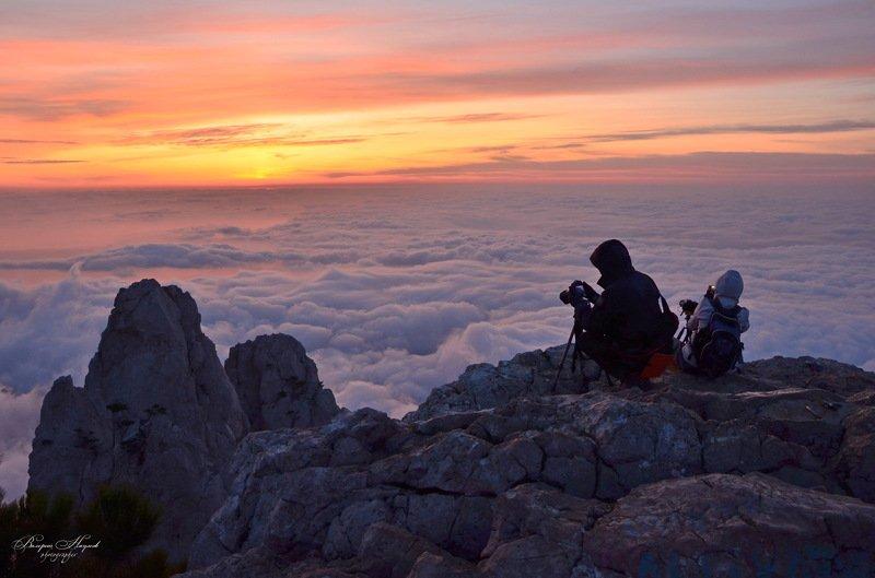 утро, рассвет, восход, крым, ай-петри, октябрь, вершина Встречаем рассветphoto preview