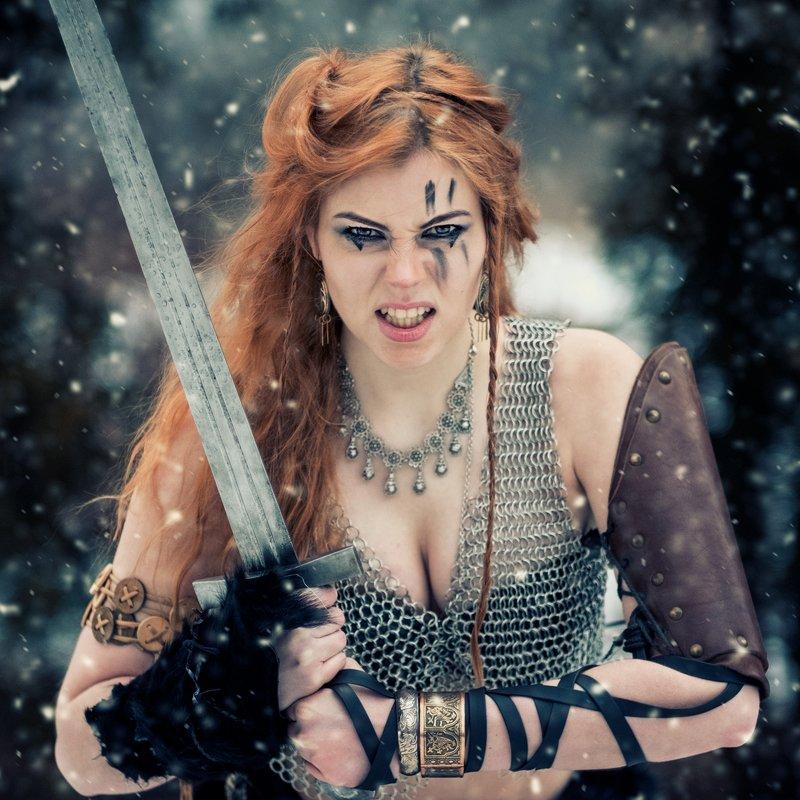 викинг воин Рыжая Соняphoto preview