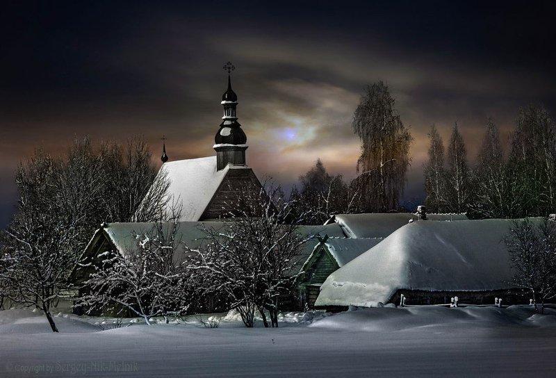беларусь, звезды, зима, луна, мороз, ночь, снег, озерцо, логойск, дудутки, вечера-на-хуторе, фотограф-интерьеров-в-минске Лунный вечер на хутореphoto preview
