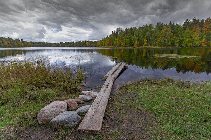 Архангельская область, осень, озеро, Русский север на Амбурском озереphoto preview