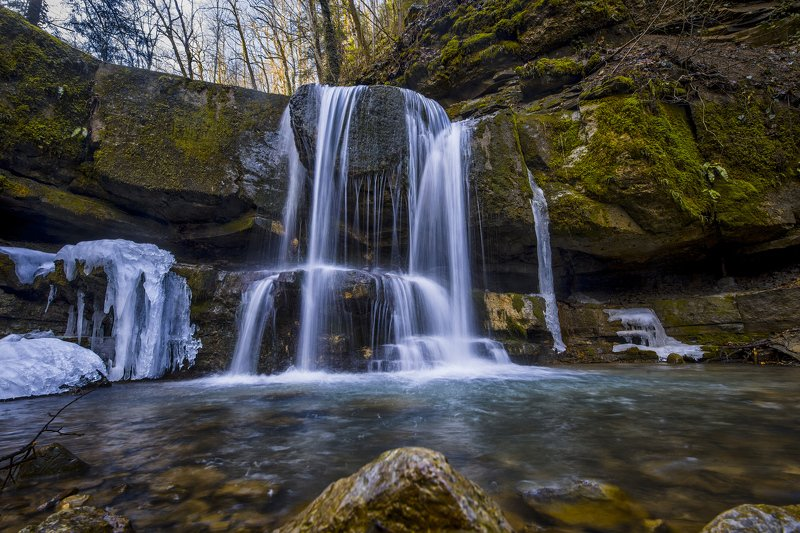 горы походы пейзаж водопады Уже подморозилоphoto preview
