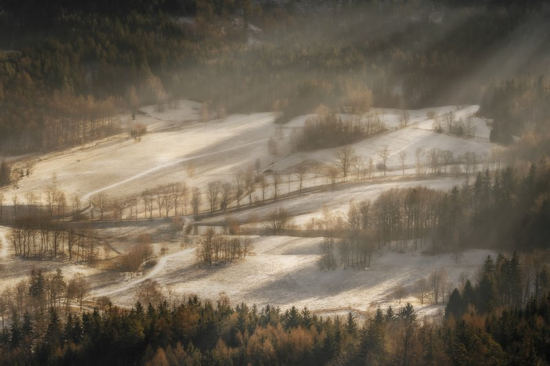 mountains, winter, poland, sunset, snow, landscape Winter morningphoto preview
