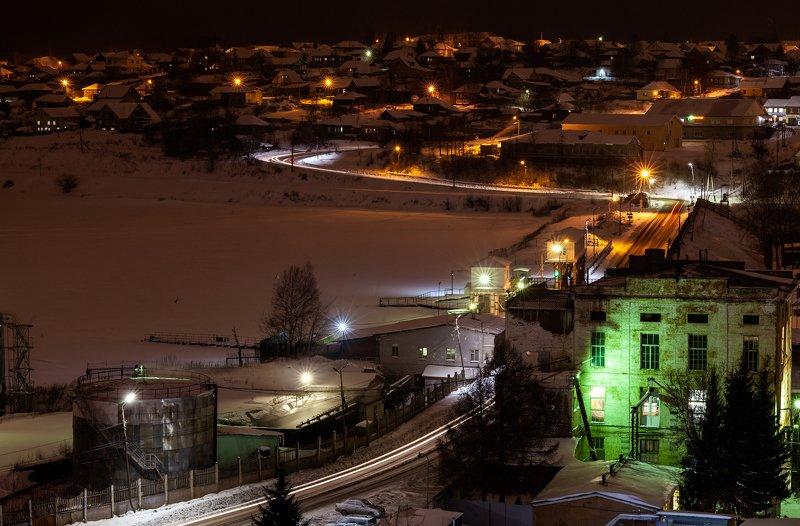 лысьва, свято-троицкого храм, колокольня, ночной город г. Лысьваphoto preview
