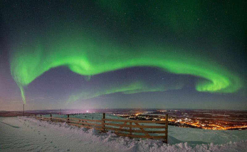 северное сияние, аврора, финляндия, лапландия Автографphoto preview