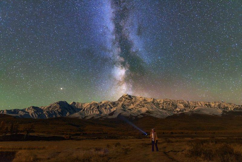 алтай, звёздные треки, ночь, горный алтай ,джангысколь Джангыскольский вечер у костра....photo preview