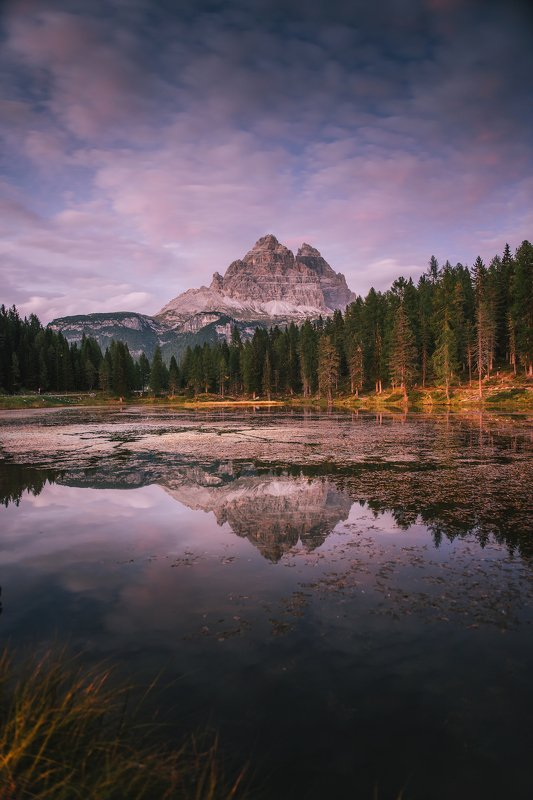 mountains, dolomites, italy, landscape, mountainscape, sunset, path, light, colors, autumn, warm, people, composition, horizon, night, nightscape, moody, Duskphoto preview