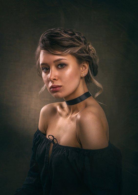 девушка, камерный портрет, студийная съёмка, бьюти Аннаphoto preview