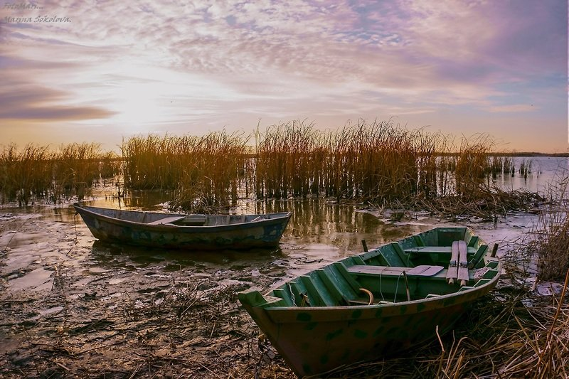 пейзаж,рассвет,утро,река,мёртвый донец, Раннее утро...photo preview