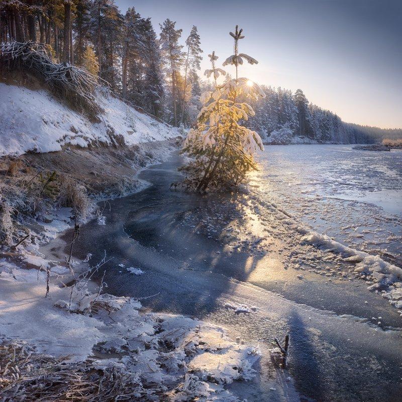 река, холода Ноябрьское половодьеphoto preview