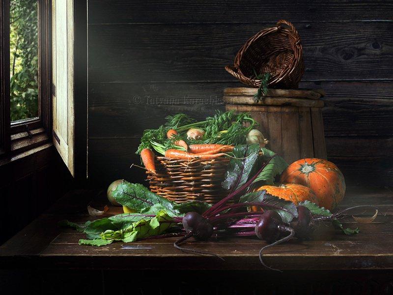 натюрморт, овощи, деревенский, дачный С грядкиphoto preview