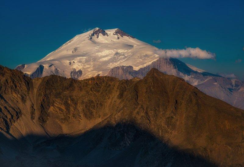 пейзаж горы эльбрус Эльбрус вечернийphoto preview