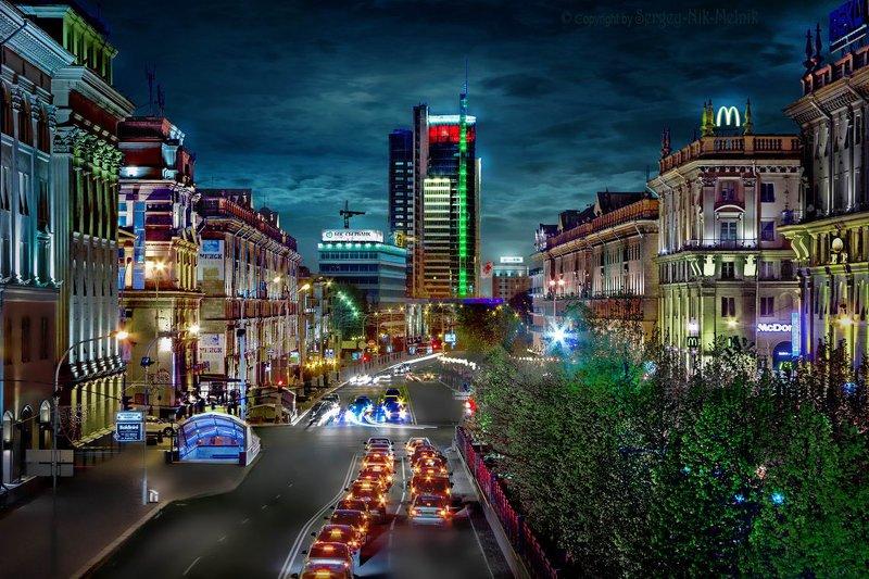 беларусь, город, минск, вечер, фотосфера-минск Город красками сияет!...photo preview