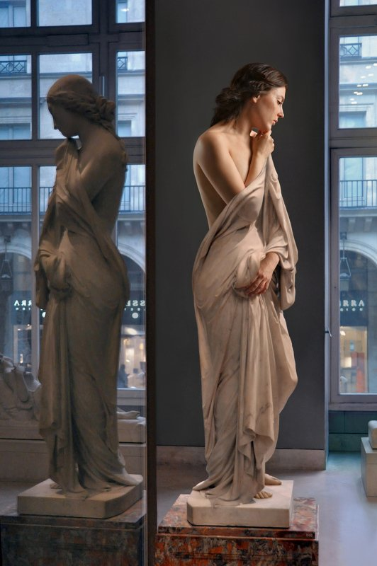sculpture, art, museum, marble, stone, girl, nude, model, posing, stone, live, paris, myth, greek, louvre Мрамор XIXphoto preview