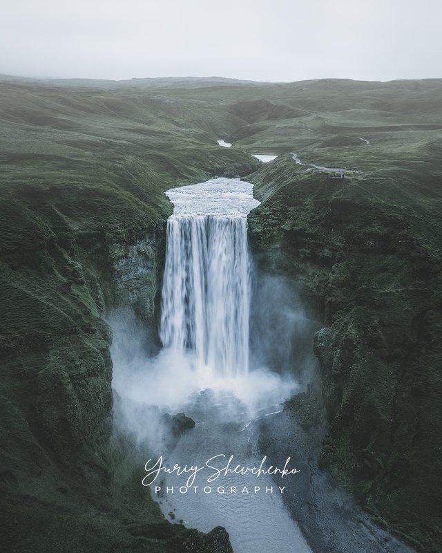 iceland, исландия, skógafoss, скогафосс Дождливый водопад Скогафосс.photo preview