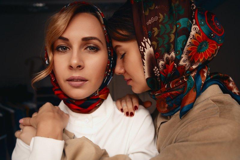 портрет, девушка, лицо,  Лена и Машаphoto preview