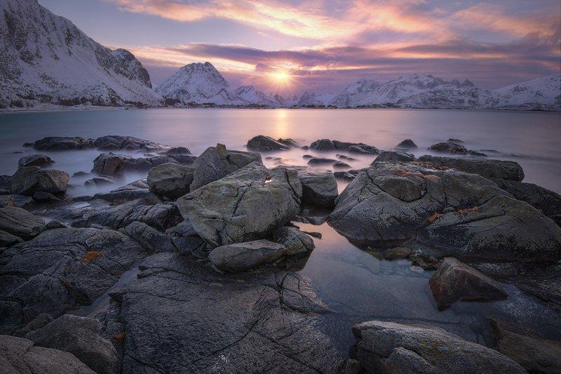 норвегия лофотены lofoten norway закат Норвежский вечерphoto preview