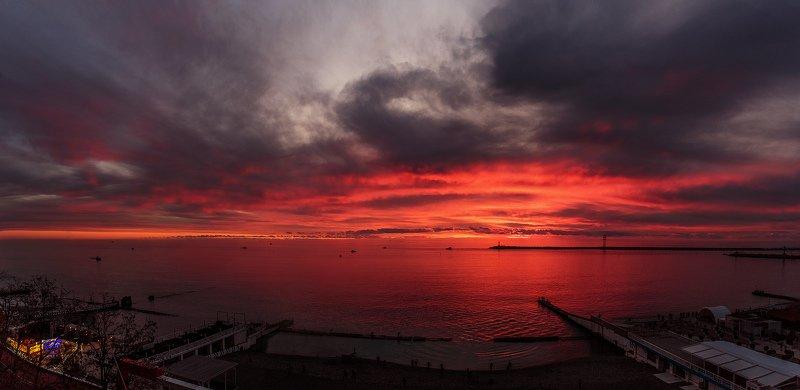 сочи, природа, закат, море, небо Зимние закаты, Сочиphoto preview