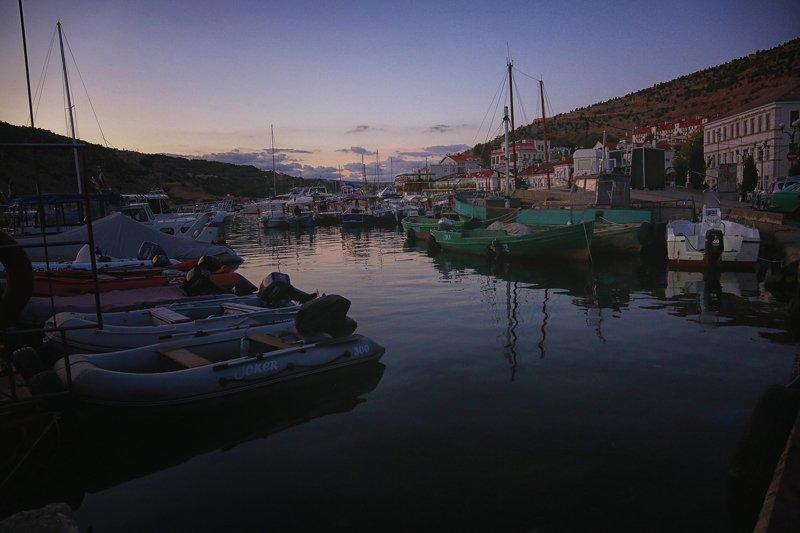 Бухта, Балаклава, море, закат, лодки, яхты Закат на бухтойphoto preview