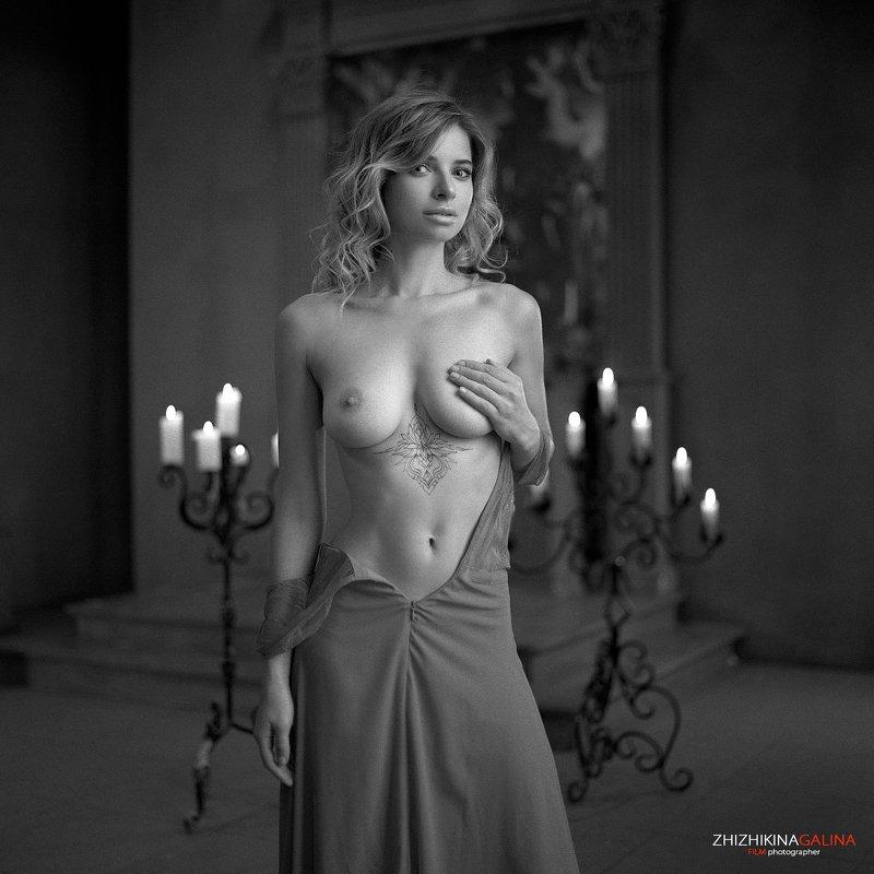 чб, пленка, черно-белое, портрет, девушка, артню, ню, топлесс, nude, nu, artnu, portrait, face, film, 6x6 Огонькиphoto preview