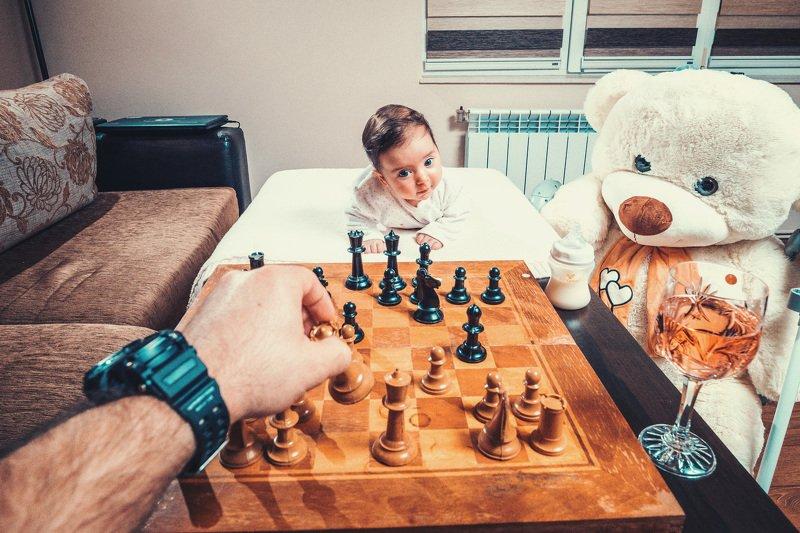 шах, Шахматы, дочь, ребенок,  Шахматыphoto preview