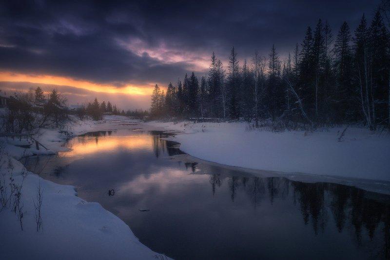 сатка, река, зима, зюраткуль Навстречу светуphoto preview