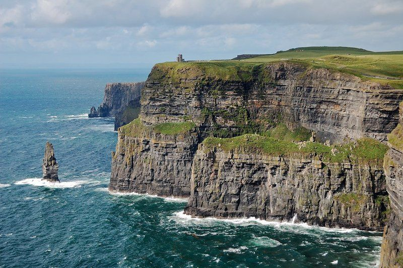 утес, скала, море, мохер, ирландия Cliffs of Moherphoto preview