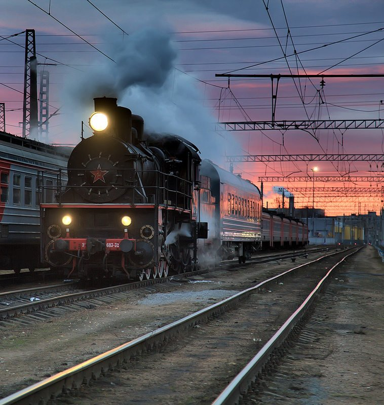 железная, дорога, репортаж, санкт-петербург, петербург, паровоз, техника, город, жанр, утро Железнодорожноеphoto preview