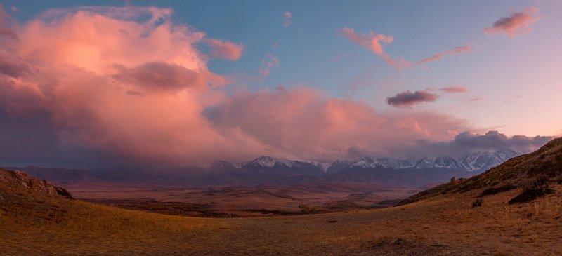 горный алтай, северочуйский хребет, курайская степь Взгляд на закат в Курайской степиphoto preview