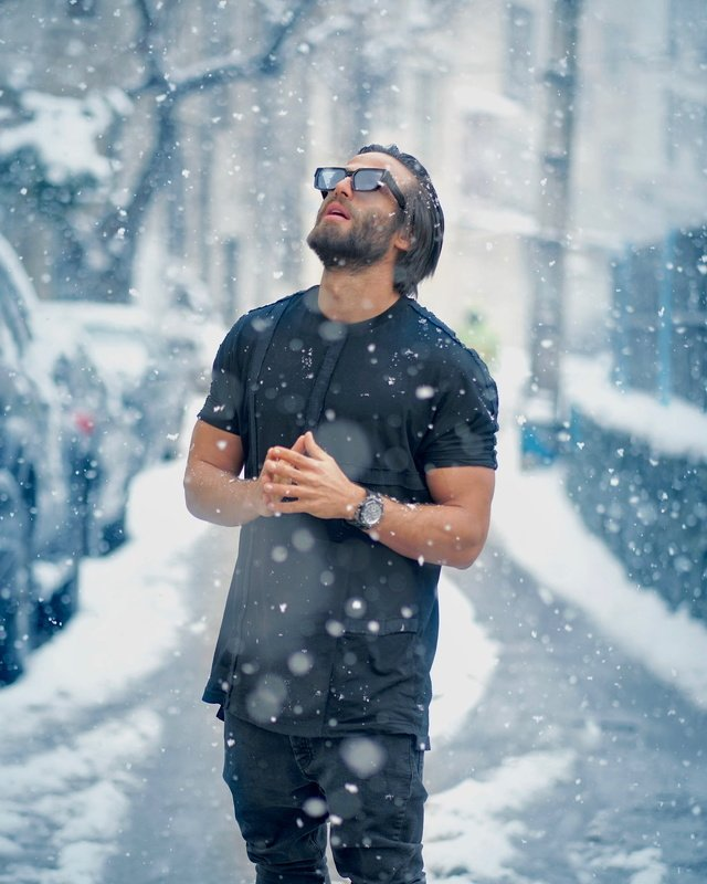 #portrait #male #snowing #photography #style #fashion Snowingphoto preview