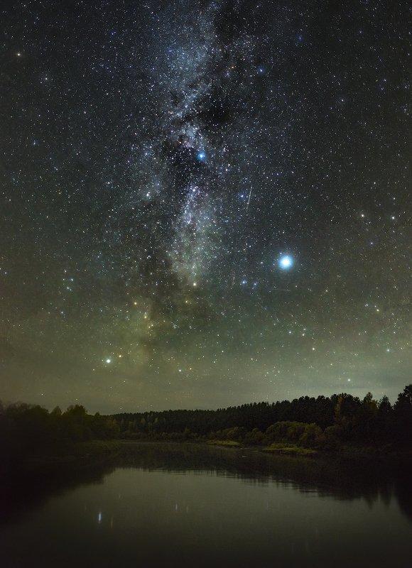 млечный путь, ночное фото, Архангельская область, ночь, река, астрофото photo preview