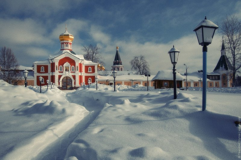 иверский монастырь, валдай Настоящая зима!photo preview