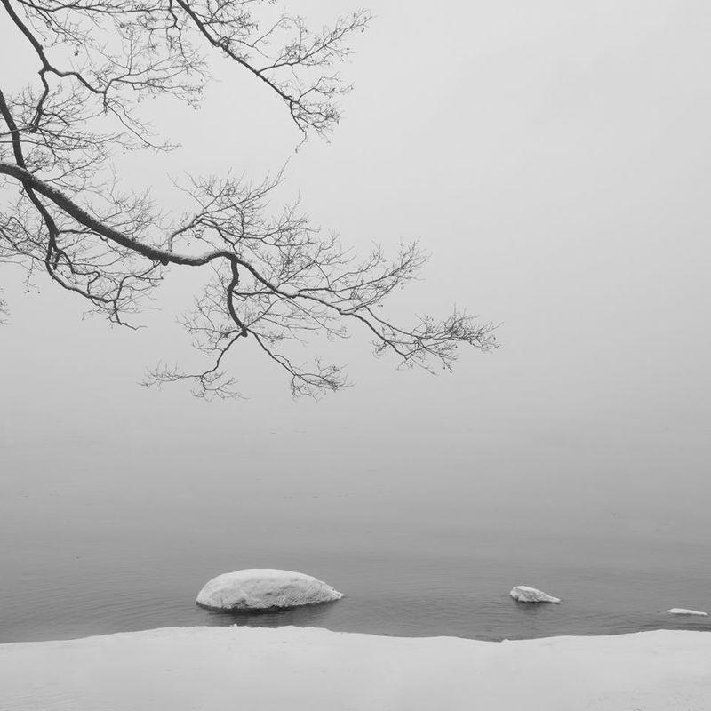 чёрно-белое, минимализм, финский залив Надеждаphoto preview