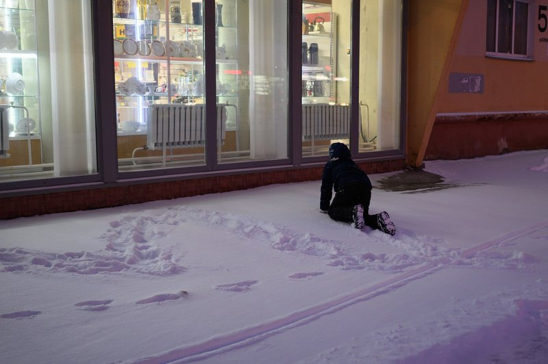 уличная фотография, streetphotography, ночь, зима, снег, Январьphoto preview