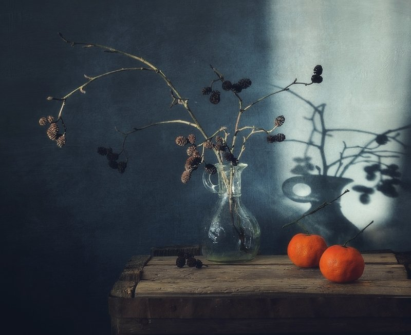 натюрморт,still_life,тень,мандарины два мандарина... фото превью