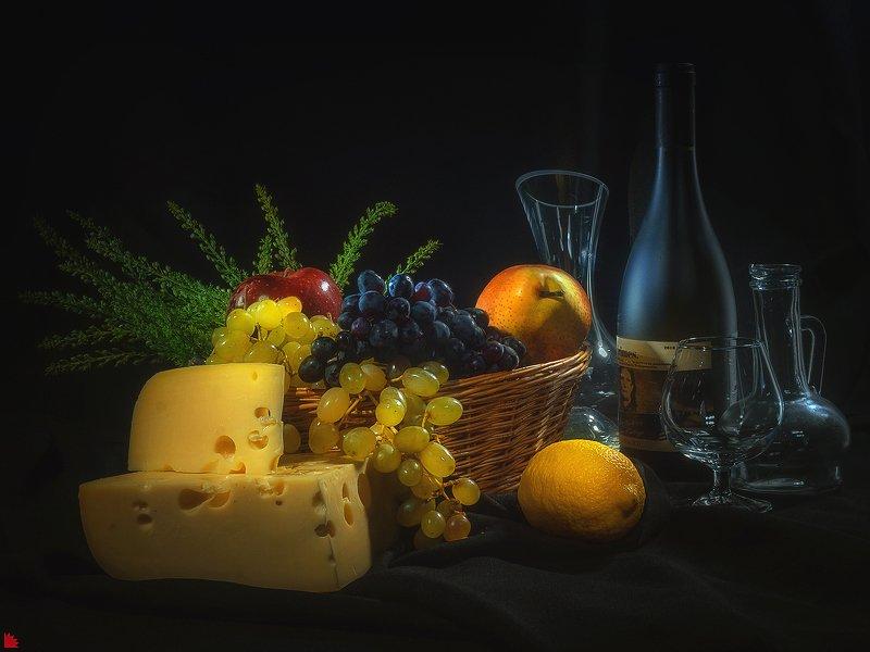 световая кисть Натюрморт с виноградомphoto preview