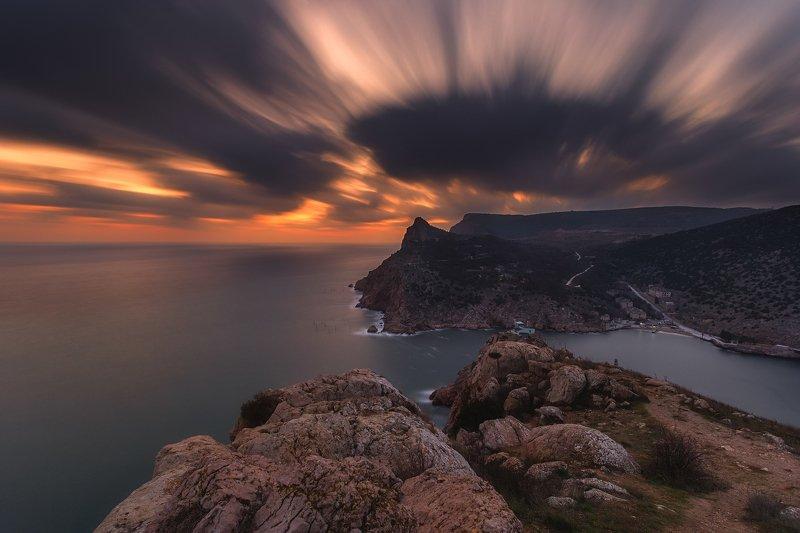 крым, балаклава, пейзаж, красота, закат, горы, море, севастополь, вечер, путешествие Жар-птицаphoto preview