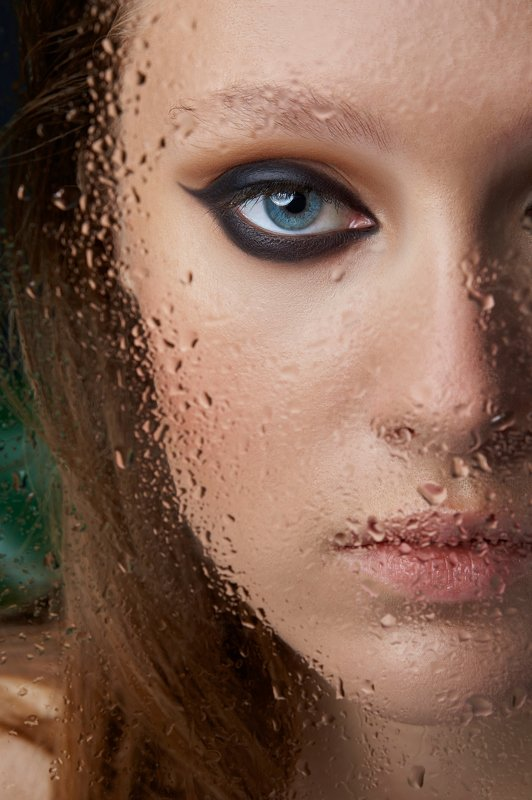 sony, beauty, close up, make up, drops, water, eyes, lips, retouch Dropsphoto preview