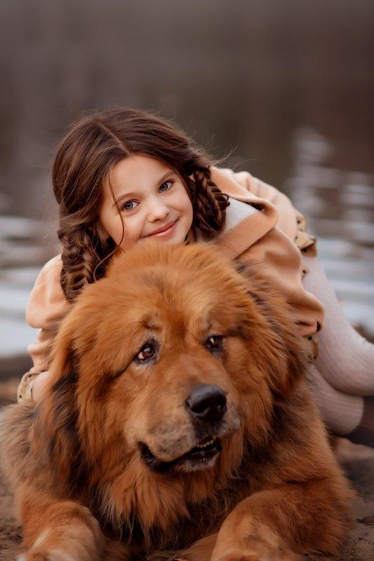 девочка собака Я и мой друг Дукарphoto preview