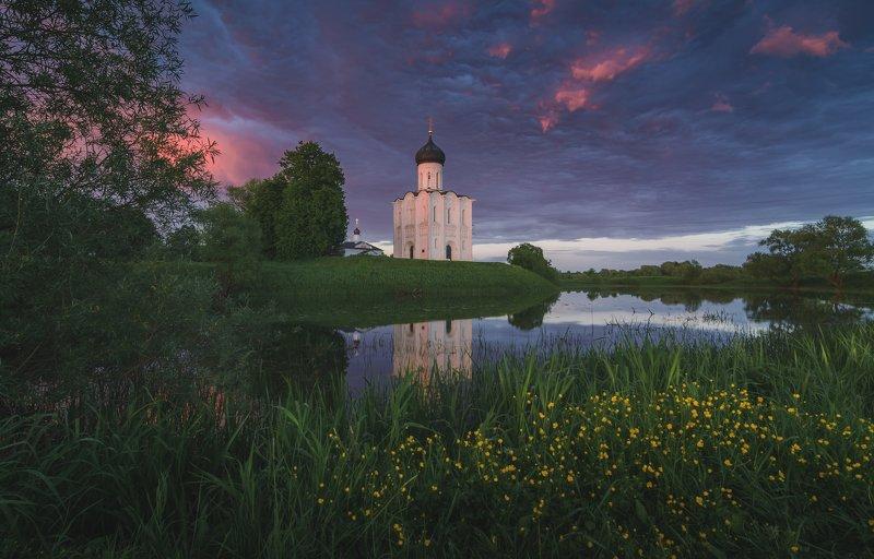 храм, боголюбово, вечер, гроза, лето, пейзаж Послегрозовая тишина...photo preview