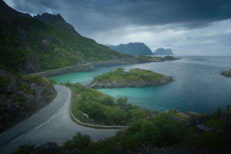 пейзаж, природа, море, норвегия, сенья Hamnphoto preview