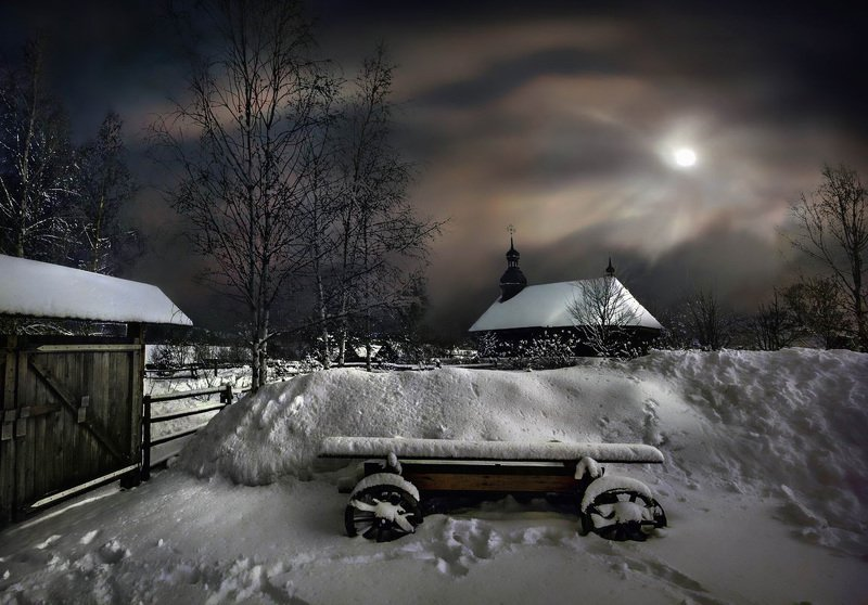 беларусь, звезды, зима, луна, мороз, ночь, снег, замок, гольшаны, вечера-на-хуторе, озерцо, логойск, дудутки,  фотограф-интерьеров-в-минске Шоколадный вечер на хуторе с телегойphoto preview