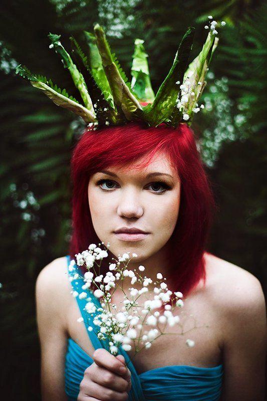 девушка, лес, королева, сказка, корона Королева лесаphoto preview