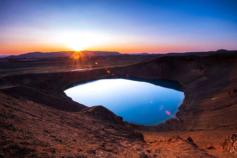 исландия,iceland закат на Марсеphoto preview